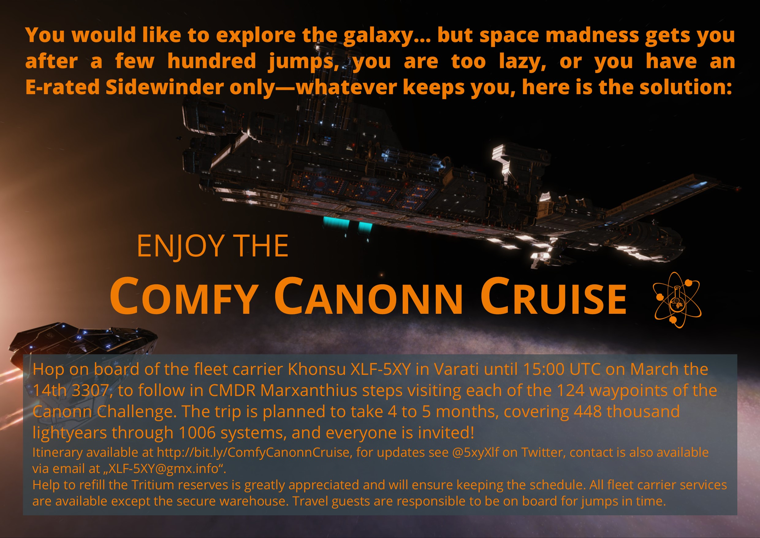 Enjoy the Comfy Canonn Cruise