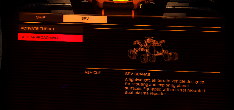 Horizons Ship/ SRV menu is super annoying for Face Track