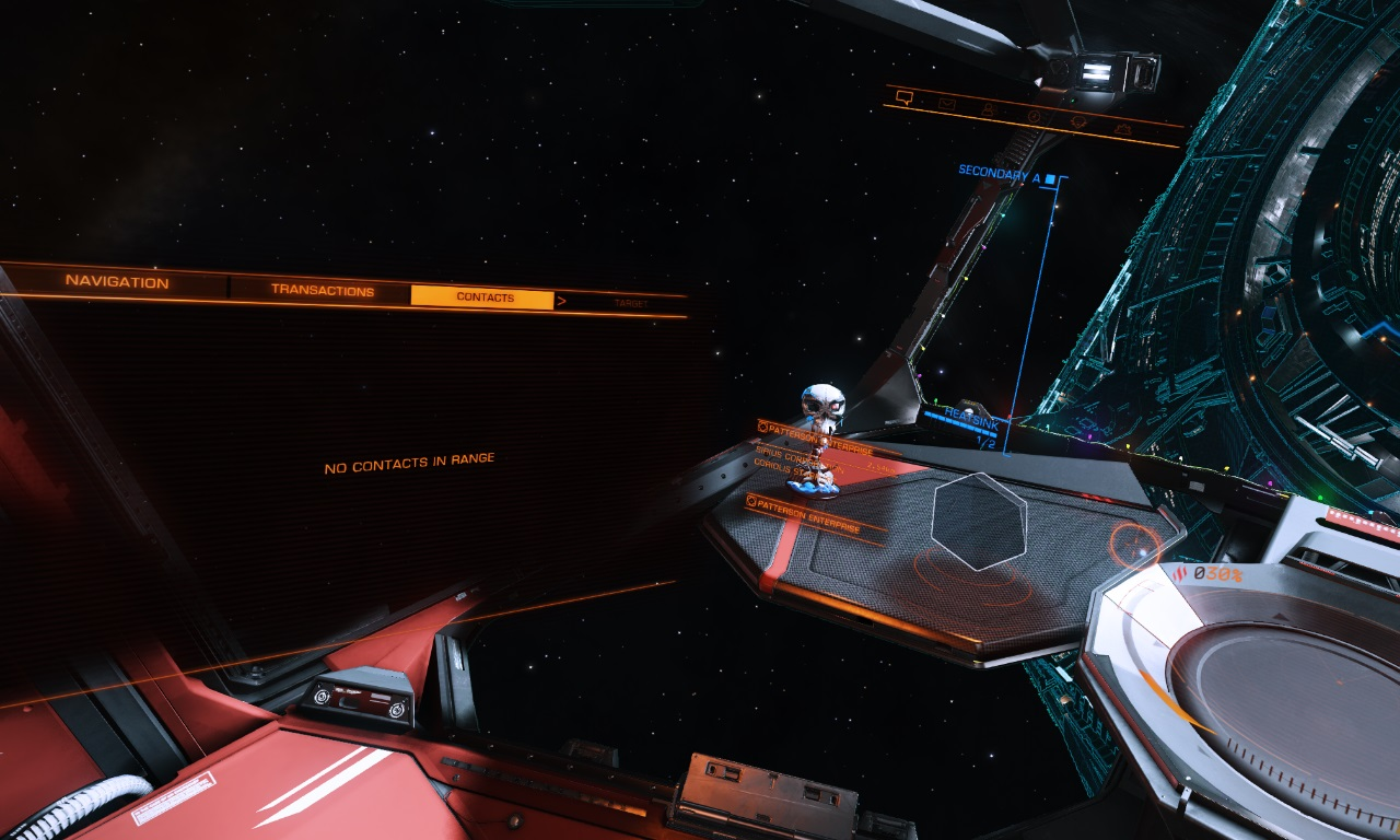 No contacts outside a station ? | Frontier Forums